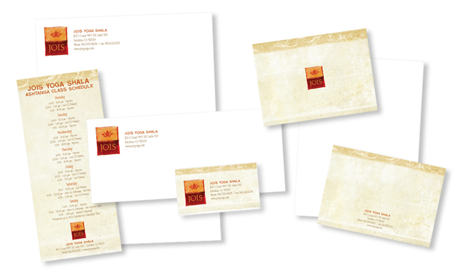 Ashtanga Yoga Stationery Design San Diego