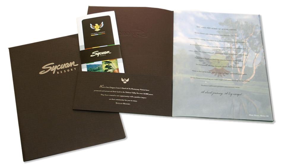 Sycuan Resort Presentation Sales Kit and Rack Brochure