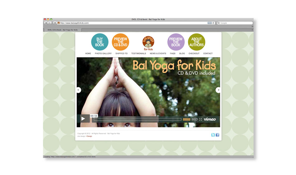 Children's Yoga Ecommerce Website San Diego