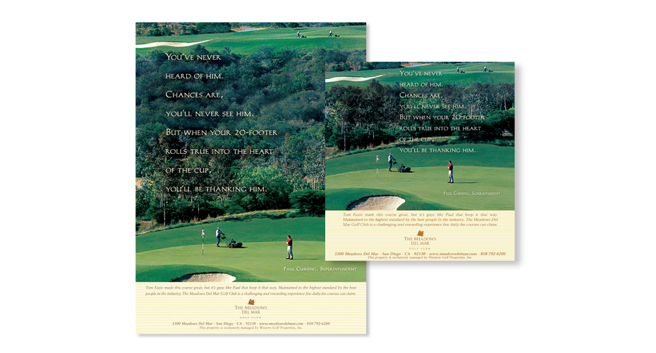 Golf and Country Club Advertising Designer San Diego