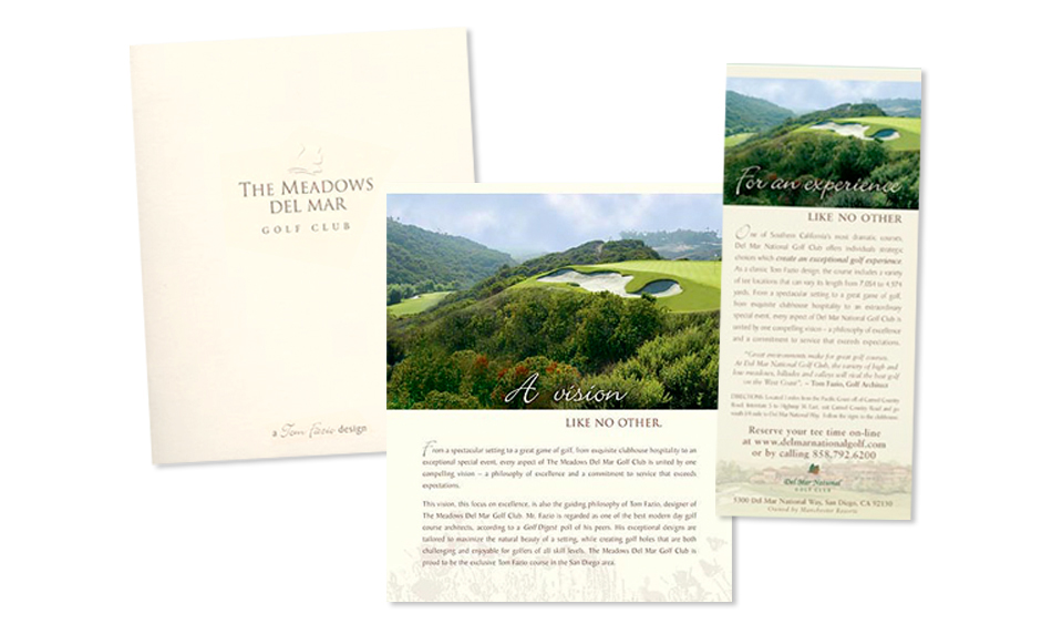 Country Club Brochure Designer San Diego