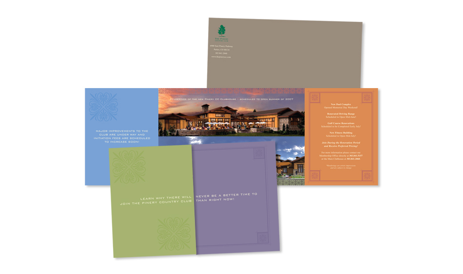 Country Club Direct Mail Design San Diego