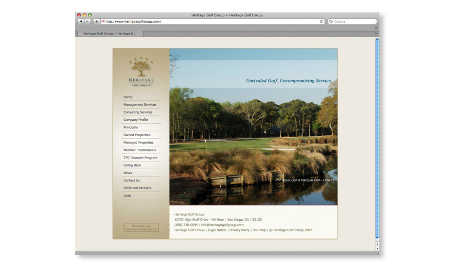 Golf Group Website Designer San Diego