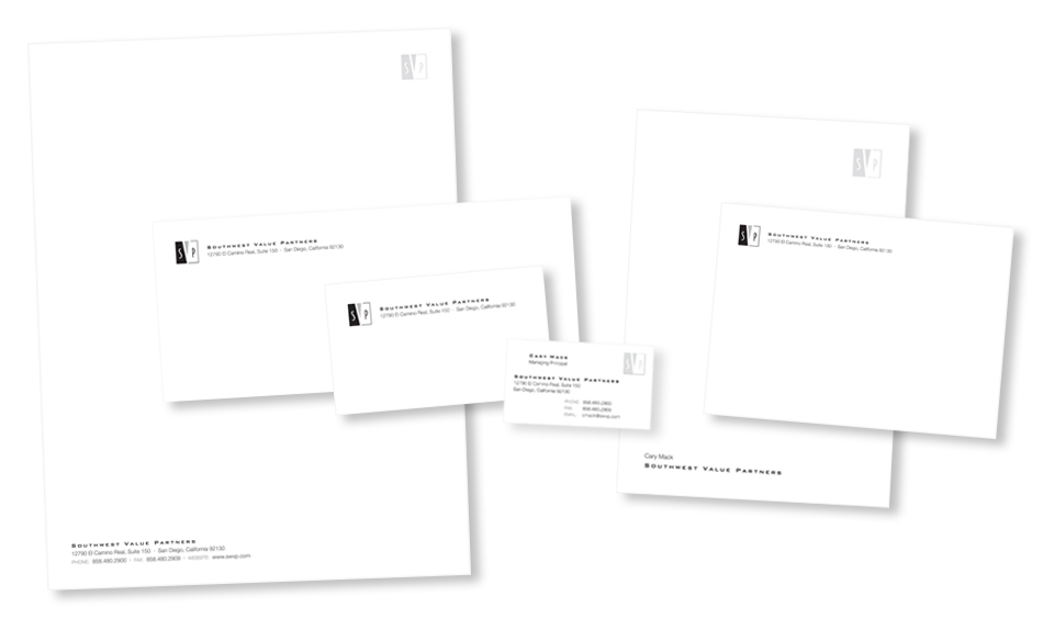 Investment Real Estate Stationery Design San Diego