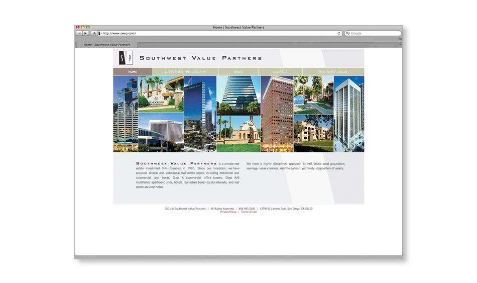 Private Real Estate Investment Firm Secure Website Design San Diego