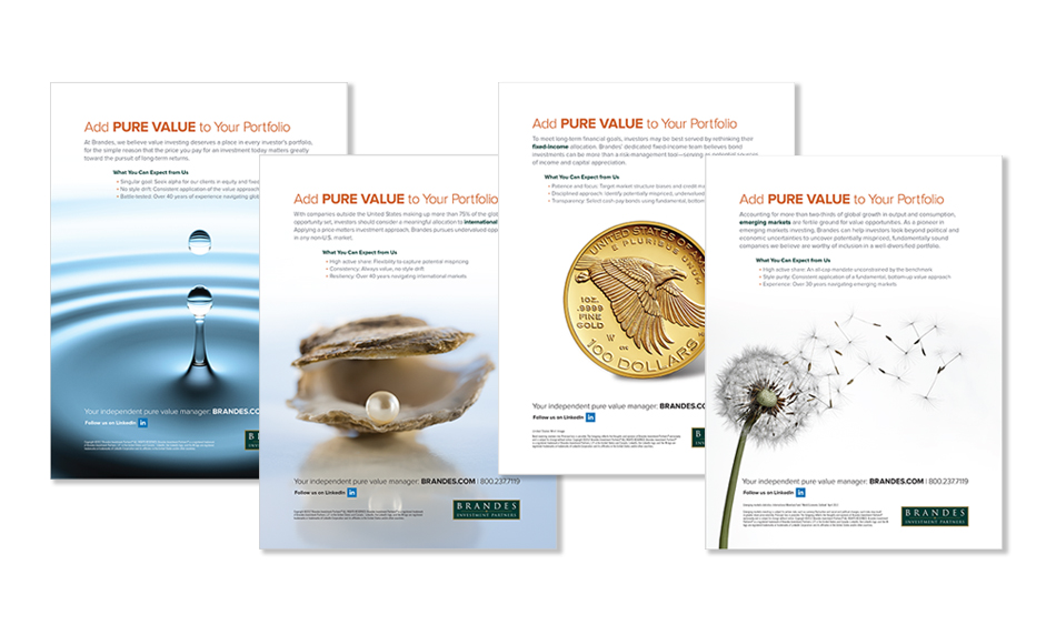 Brandes Investment Partners Pure Value Advertising Campaign
